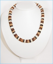Natural Wood Button Necklace