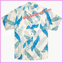 Palm Leaf Hawaiian Silk Shirt