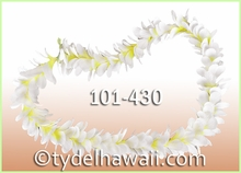 Plumeria Royal Single Lei - White/Yellow