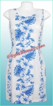 Tropical Floral Panel Hawaiian Tank Dress - White