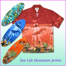 Sea Life Print Hawaiian Shirts