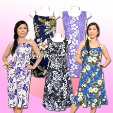 Short & Tea Length Style Hawaiian Dresses
