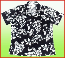 Silhouette Hibiscus Women Hawaiian shirt