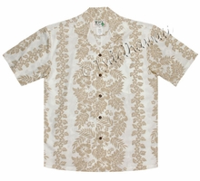 Silhouette Lei Panel Hawaiian Shirt - 173White