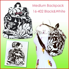 Medium Hawaiian Backpack - 402Black/White