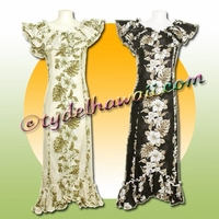 Tropical Floral Panel Hawaiian Elegant Dress  - 434