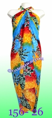Tropical Floral Print Hawaiian Sarong - 26