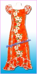 Hawaiian Island Dress - 5003Orange