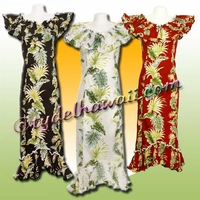 Tropical Leaf Panel Hawaiian Elegant Dress - 438