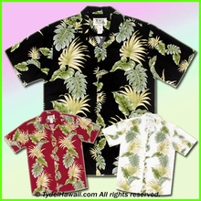 Tropical Leaf Panel Hawaiian Shirt