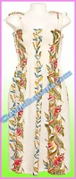 Full Length Hawaiian Smock Dress - 163Natural