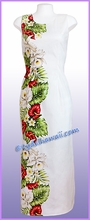 Anthurium & Orchid Hawaiian Paradise Dress - White