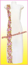 Pink Orchid Hawaiian Paradise Dress - White