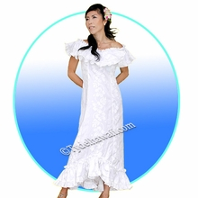 White Hawaiian Elegant Dress