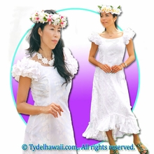 White Hawaiian Island Dress