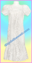 Tea Length White Hawaiian Muumuu - 50% off