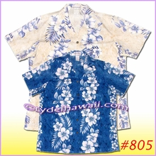 Hibiscus Panel Women Hawaiian Shirt