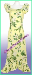Garden Hibiscus Hawaiian Island Dress - Yellow