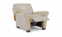 A121 004 1575 Natuzzi Reclining Chair in Seashell top grain leather
