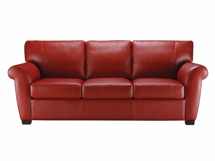 A121 009 2550 Natuzzi Sofa in Fully Red top grain leather