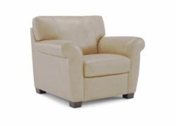A121 Chair in 1575 Lemans Seashell leather by Natuzzi