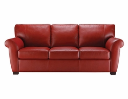 A121 Natuzzi Editions Leather Sofa