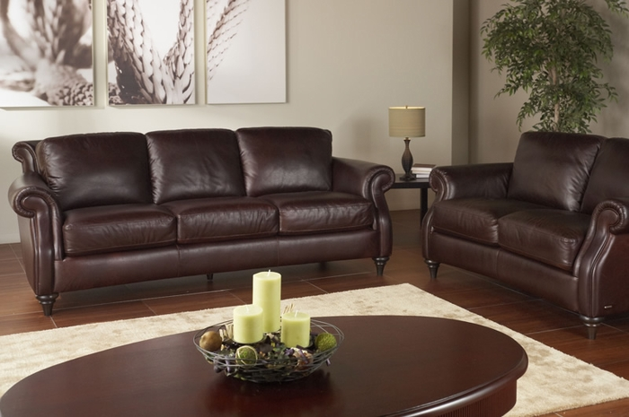 A297 Natuzzi Editions Leather Sofa Labor Day Sale