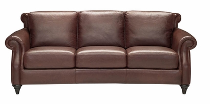 A297 Natuzzi Editions Leather Sofa