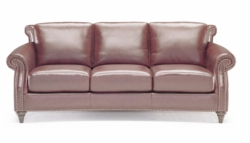 A297 Sofa in top grain leather by Natuzzi