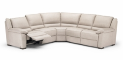 A319 Sectional Sofa with Electric Recliners by Natuzzi in Beige Leathe