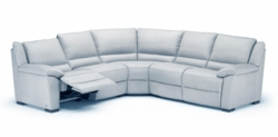A319 Sectional Sofa with Electric Recliners by Natuzzi in Dove Grey