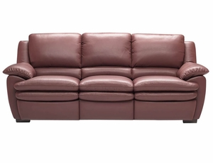 A329 Natuzzi Editions Leather Sofa