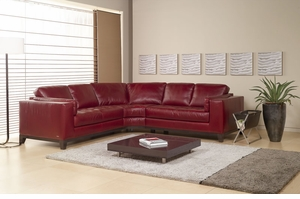 A355 Natuzzi Editions Leather Sectional Sofa