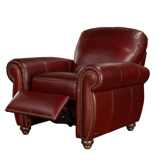 A358 Reclining Chair in 15WI Sambucca Leather by Natuzzi