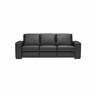 A397 Large Sofa in Denver Anthracite Leather by Natuzzi