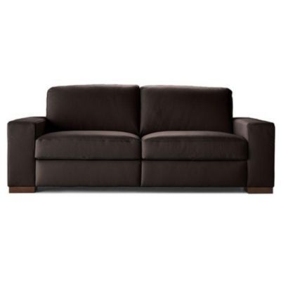 A397 Loveseat in Phoenix Brown Leather by Natuzzi