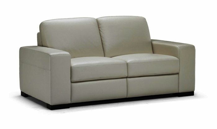 A397 Loveseat in Taupe Leather 15CT by Natuzzi