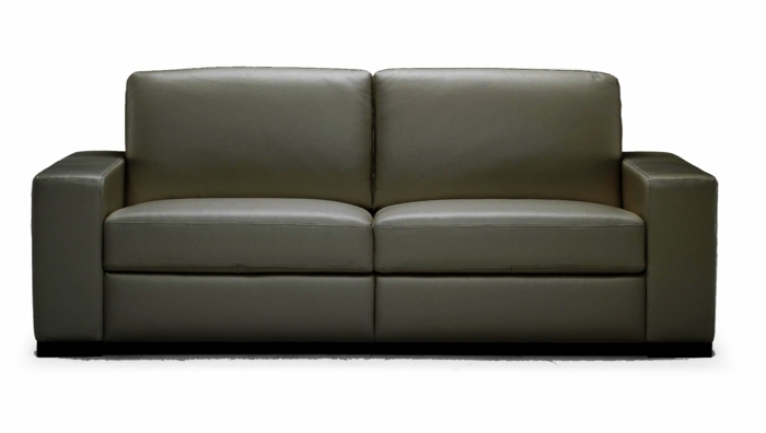 A397 Sofa & Loveseat in 1576 Lemans Black by Natuzzi
