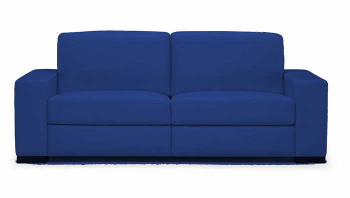 A397 Sofa in 15CY Lemans Navy Blue Leather by Natuzzi