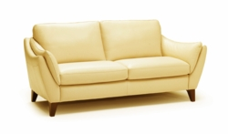A486 Loveseat in 15C7 Lemans Yellow Leather by Natuzzi