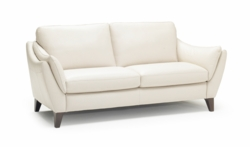 A486 Loveseat in Dream White Leather by Natuzzi