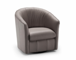 A835 Barrel Chair in Brown Fabric by Natuzzi