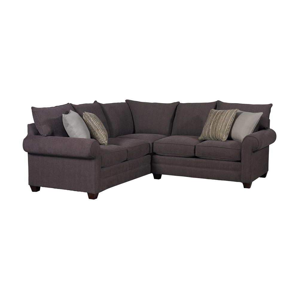 Alex sectional sofa by bassett furniture bassett for Small sectional sofa bassett