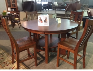 Amish Gathering Table Set Quarter Sawn Oak