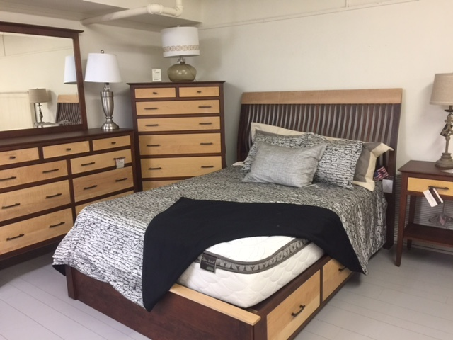 Amish made solid wood bedroom set