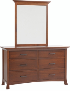 Amish Made Solid Wood Double Dresser