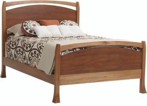 Amish Made Solid Wood Panel Bed