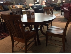 Amish Round Dining Set