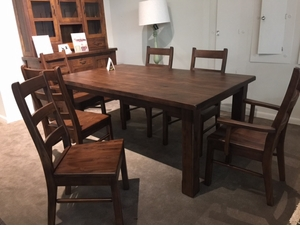 Amish Walnut Dining Set