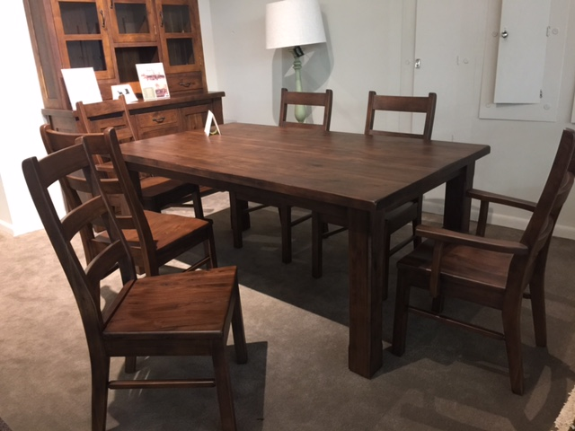 amish walnut dining set dining room albany dining room set amish furniture factory